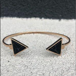 Evolving Always Jewelry - Fashion Bracelet Triangular Shaped Black Stone